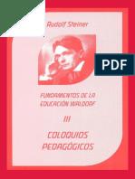 Coloquios Pedagogicos III - Rudolf Steiner.pdf