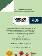 Diario de Campo de Proyecto de Investigacion de Nutricion Aplicada