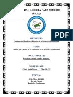 Unidad-III Filosofia de La Educacion-dominicana