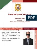Objeto y Temas de La Investigación de mercados