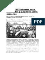 Juzgamiento a Animales