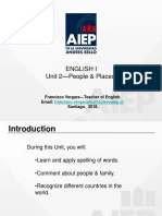 English I Unit 2 People and Places aiep
