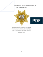DA's Officer Involved Shooting Report - Luis GongoraPat