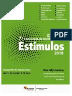 Manual Convocatoria Estimulos 2018
