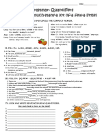 Quantifiers Grammar Drills 107561