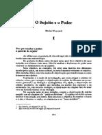 Foucault_Uma_Trajetoria_filosofica - O Sujeito e o Poder