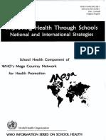 WHO_School Health Program 1999