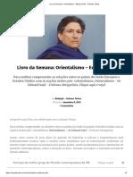 Livro Da Semana_ Orientalismo - Edward Said - Colunas Tortas