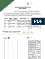 Acta Estado de Proyectos Revisión Primera Instancia