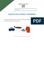 Español - Juegos Con Letras y Palabras 1