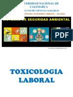 III. Toxicologia Laboral