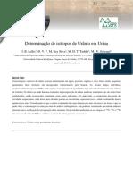 Resumo Radio - Determinação de Isótopos de Urânio Em Urina