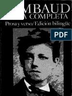 Rimbaud, Arthur - Obra Completa. Prosa y Verso. Edición Bilingüe