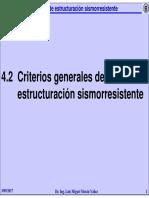 4.2 Criterios Generales de Estructuracion Sismorresistente