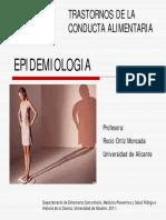 Epidemiologia TCA Trastornos Del Comportamientoalimentario 2011