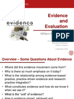 Evidence and Evaluation