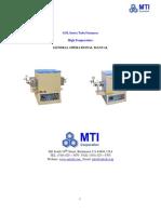 Gsl Hi-temp Operation Manual-0217-Gl - Tube Furnace