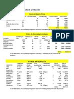 Costo de Materia Prima TAVLAS
