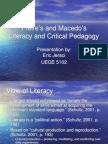 Freire and Macedo by E Jeraci