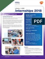 2018 Intenship GSK Scholarship