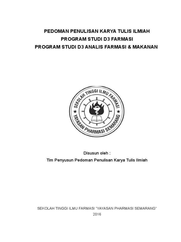 Buku Pedoman Kti D3 Farmasi