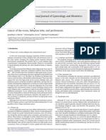 Berek 2015 - Cancer of the Ovary, Fallopian Tube, And Peritoneum - FIGO