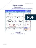 nepali calendar of 2075