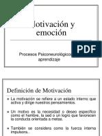 Clase 11 Motivación y Emoción