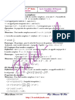 Série d'exercices - Mathématiques LES NOMBRES COMPLEXES - 4ème Math (2008-2009).pdf
