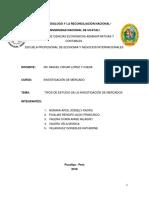 Grupo 03  Tipos de Estudio de Investigacion de Mercado