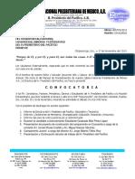 Oficio No 076 Convocatoria a Reunion Extraordinaria Oactubre 2013