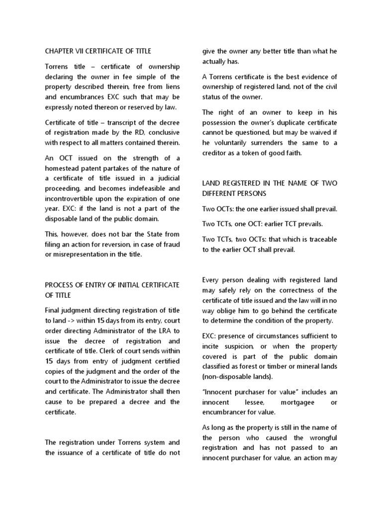 Ltd Chapt 7 8 15 Deed Title Property