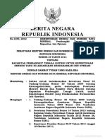 Permen ESDM No. 29 Tahun 2012 Ttg Kapasitas Genset Untuk Kepent