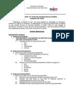 Budget of Work in Filipino 10