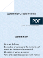 Ecofeminism, Social Ecology