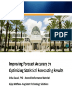 4113 Improve Forecast Accuracy by Optimizing Statistical Forecasting Results