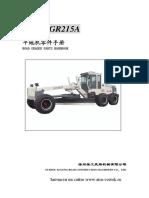 Catalogo Motoniveladora GR215