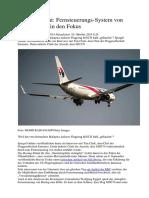 MH370 Patent - Fernsteuerungs-System Von Boeing Gerät in Den Fokus