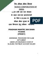 Addendum PMJDY Claim Procedure-with Modifications PMJDY