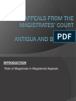 Magisterial Appeals in Antigua Barbuda by Agnes Actie