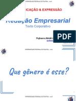 LET006 - T01 AULA 35 a 40 - Redação Empresarial - Parte 1