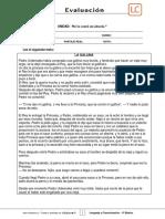 4Basico - Evaluación N°5 Lenguaje - Clase 03 Semana 25 - 2S