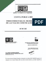 Informe del Fimevic (Cuenta Publica 2003)