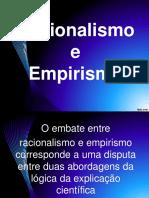 Racionalismo e Empirismo
