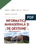 Informatica Manageriala SC - IE, CIG, FB, MG ID 2018