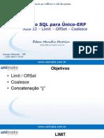 Curso SQL - Unico - Aula12 - Limit, Offset, Coalesce, Concatenação