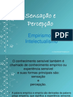 Sensações e Percepções, Empirismo e Intelectualismo