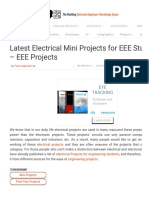 List of EEE Mini Projects for Electrical Engineering Students