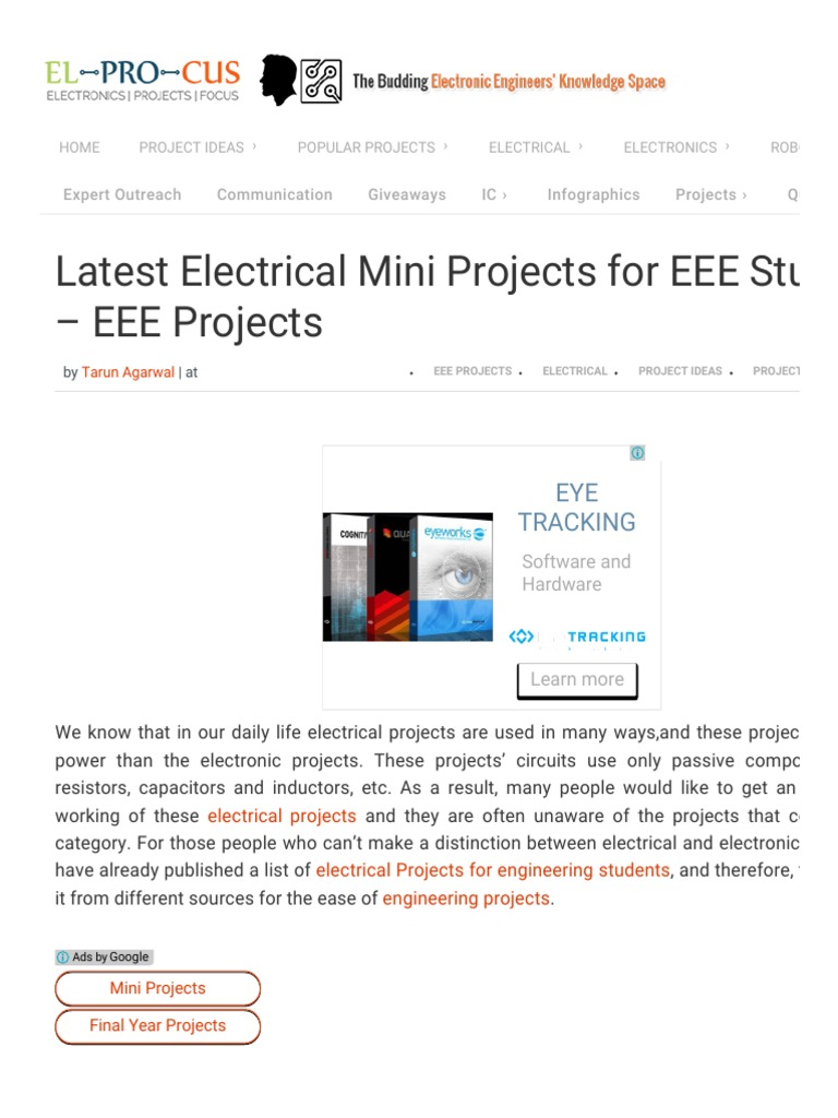 List of EEE Mini Projects for Electrical Engineering Students | Power  Inverter | Electric Motor