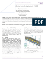 A Comparison of Routing Protocols, Applications in VANET
